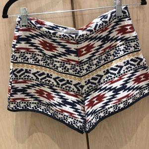Zara Shorts - Tribal Highwaisted Shorts